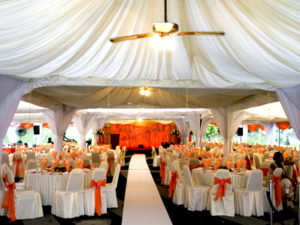 Catering_Wedding_Garden_Amber Orange_Setting_Stage