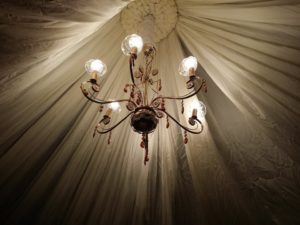 Catering_Wedding_Garden_B_W_Rental_Lighting Chandelier_7001