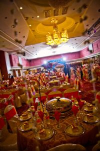 Catering_Wedding_Indoor_Ruby Red _ Gold_SetUp_SitDown_Rental_Furniture2