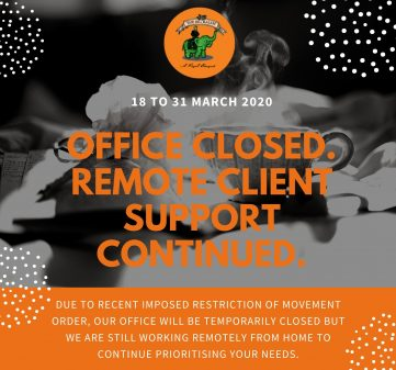 Continue Remote Support through Temp Office Closure (18 to 31 March)
